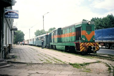 tourist train in Piotrkow